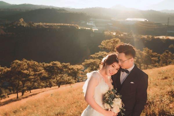 Chụp hình cưới lãng mạn tại Đà Lạt
