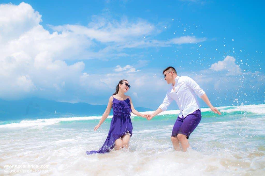Trang phục chụp ảnh cưới ở biển?